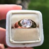 1.10ct (est) Antique Rose Cut Gypsy Ring 4