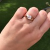 1.10ct (est) Antique Rose Cut Gypsy Ring 25