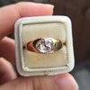 1.10ct (est) Antique Rose Cut Gypsy Ring 12