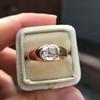 1.10ct (est) Antique Rose Cut Gypsy Ring 16