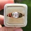 1.10ct (est) Antique Rose Cut Gypsy Ring 19