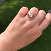1.10ct (est) Antique Rose Cut Gypsy Ring 24