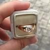 1.10ct (est) Antique Rose Cut Gypsy Ring 18