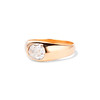 1.10ct (est) Antique Rose Cut Gypsy Ring 1