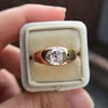1.10ct (est) Antique Rose Cut Gypsy Ring 13