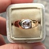 1.10ct (est) Antique Rose Cut Gypsy Ring 9