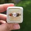1.10ct (est) Antique Rose Cut Gypsy Ring 23