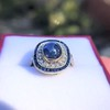2.77ct Antique Sapphire Halo Ring, with AGL cert 7