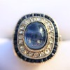 2.77ct Antique Sapphire Halo Ring, with AGL cert 21
