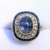 2.77ct Antique Sapphire Halo Ring, with AGL cert 17