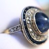 2.77ct Antique Sapphire Halo Ring, with AGL cert 24