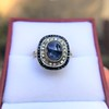 2.77ct Antique Sapphire Halo Ring, with AGL cert 11