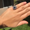 2.77ct Antique Sapphire Halo Ring, with AGL cert 30