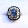 2.77ct Antique Sapphire Halo Ring, with AGL cert 9