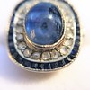 2.77ct Antique Sapphire Halo Ring, with AGL cert 22