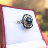 2.77ct Antique Sapphire Halo Ring, with AGL cert 19
