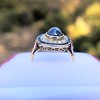 2.77ct Antique Sapphire Halo Ring, with AGL cert 10