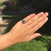 2.77ct Antique Sapphire Halo Ring, with AGL cert 33