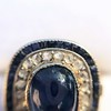 2.77ct Antique Sapphire Halo Ring, with AGL cert 23