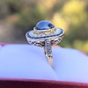 2.77ct Antique Sapphire Halo Ring, with AGL cert 18