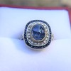 2.77ct Antique Sapphire Halo Ring, with AGL cert 12