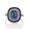 2.77ct Antique Sapphire Halo Ring, with AGL cert 0