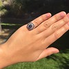 2.77ct Antique Sapphire Halo Ring, with AGL cert 35
