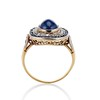 2.77ct Antique Sapphire Halo Ring, with AGL cert 3