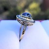 2.77ct Antique Sapphire Halo Ring, with AGL cert 16