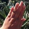 Victorian Garnet and Rose Cut Diamond Serpent Ring 10