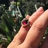 Victorian Garnet and Rose Cut Diamond Serpent Ring 14