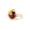 Victorian Garnet and Rose Cut Diamond Serpent Ring 1