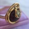 Victorian Garnet and Rose Cut Diamond Serpent Ring 8