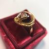 Victorian Garnet and Rose Cut Diamond Serpent Ring 24