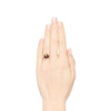 Victorian Garnet and Rose Cut Diamond Serpent Ring 3