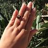 Victorian Garnet and Rose Cut Diamond Serpent Ring 15
