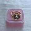 Victorian Garnet and Rose Cut Diamond Serpent Ring 7