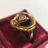 Victorian Garnet and Rose Cut Diamond Serpent Ring 22