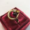 Victorian Garnet and Rose Cut Diamond Serpent Ring 21