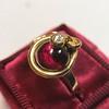 Victorian Garnet and Rose Cut Diamond Serpent Ring 19