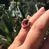Victorian Garnet and Rose Cut Diamond Serpent Ring 13