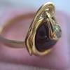Victorian Garnet and Rose Cut Diamond Serpent Ring 6