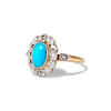 2.50ctw Victorian Turquoise and Old Mine Cut Halo Ring 1