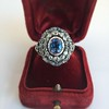 Antique Victorian Sapphire and Diamond Ring 12
