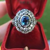 Antique Victorian Sapphire and Diamond Ring 16
