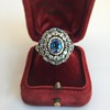 Antique Victorian Sapphire and Diamond Ring 14