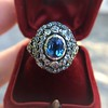 Antique Victorian Sapphire and Diamond Ring 19