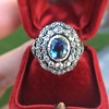 Antique Victorian Sapphire and Diamond Ring 17