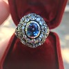 Antique Victorian Sapphire and Diamond Ring 24
