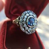 Antique Victorian Sapphire and Diamond Ring 22